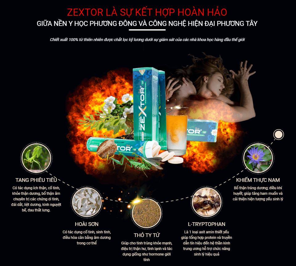 Thuốc tăng kích thước dương vật zextor